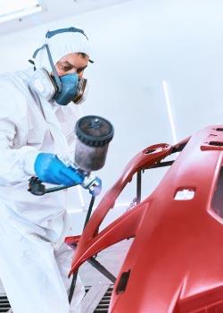 Painting Hail Damaged Vehicle